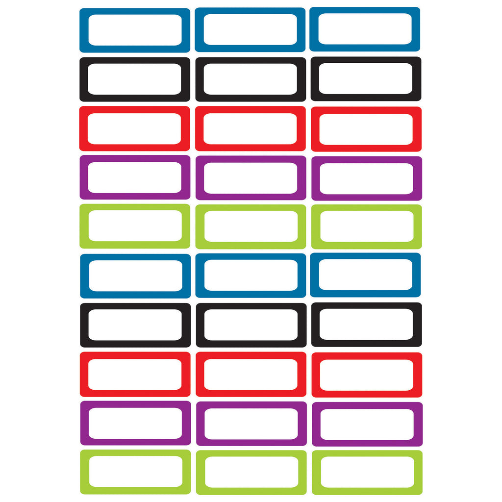 Ashley Productions Small Magnetic Labels, Assorted Color