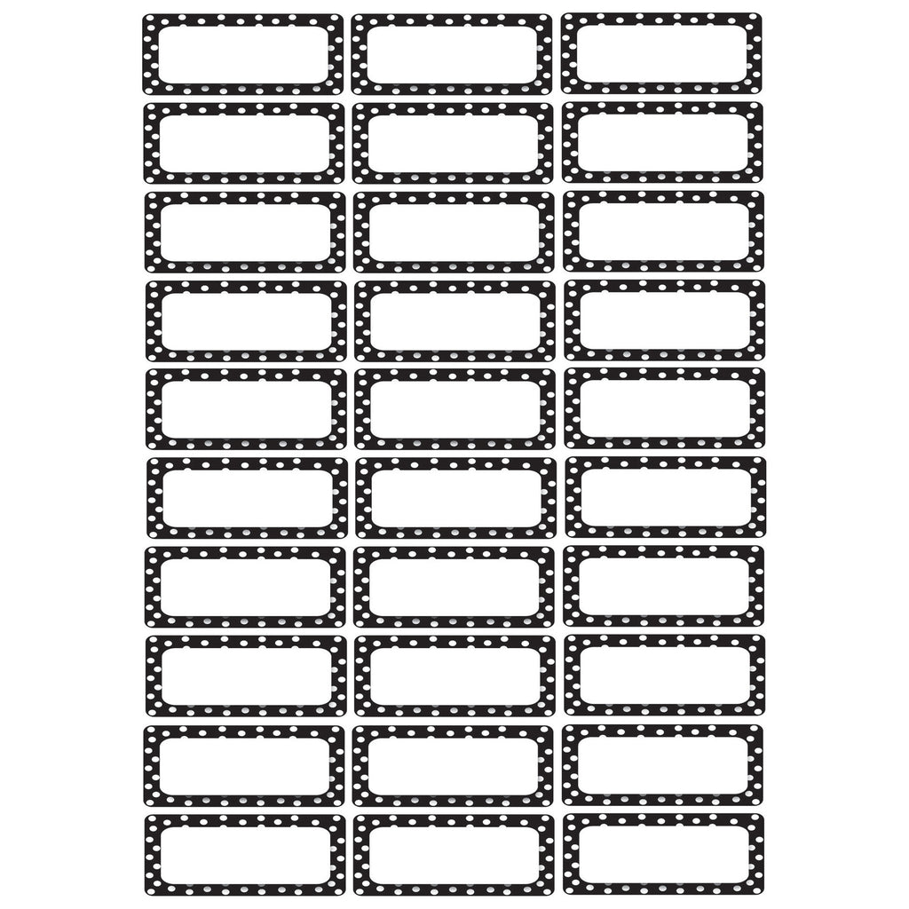 Ashley Productions Small Magnetic Labels, Black & White Dots