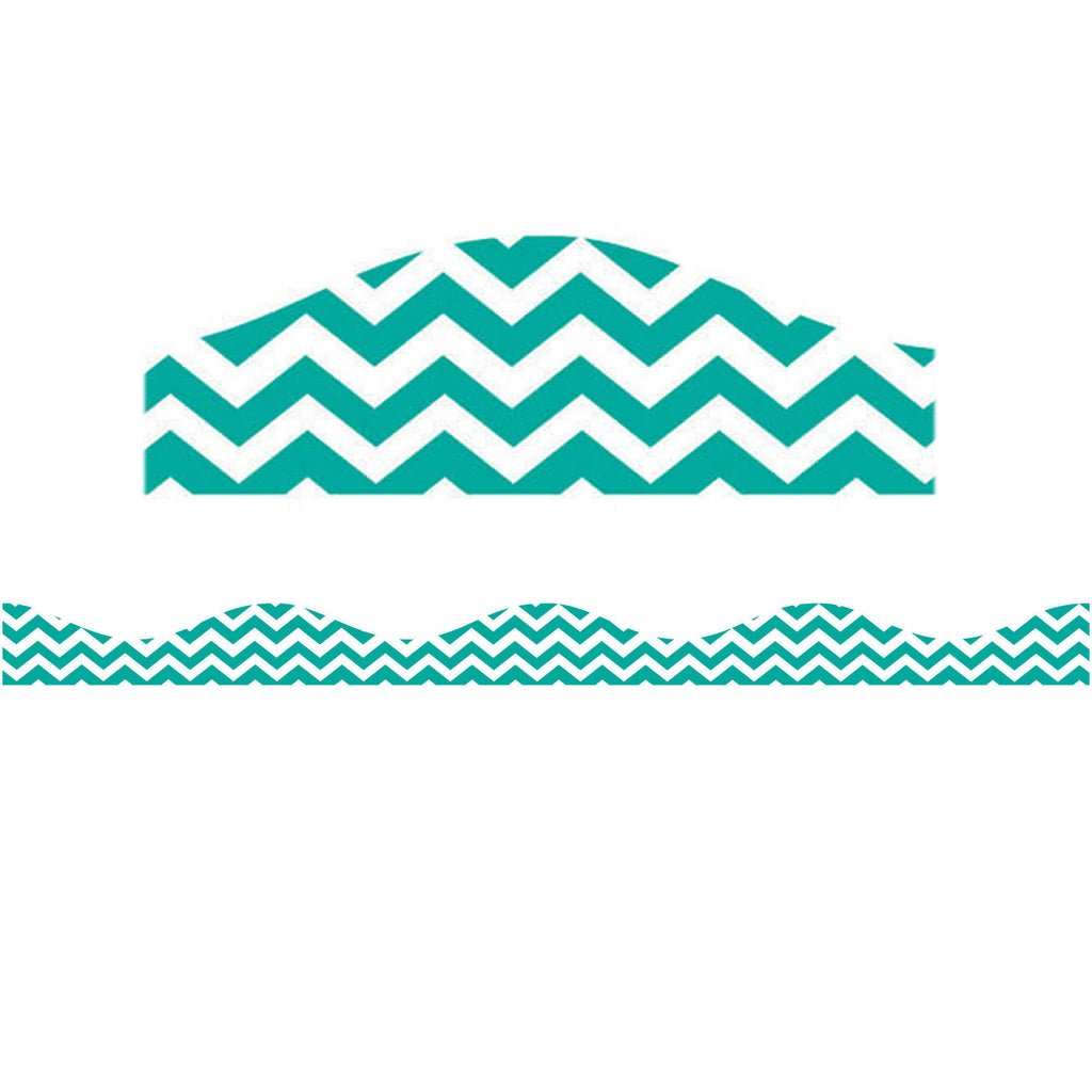 Ashley Productions Turquoise Chevron Magnetic Border