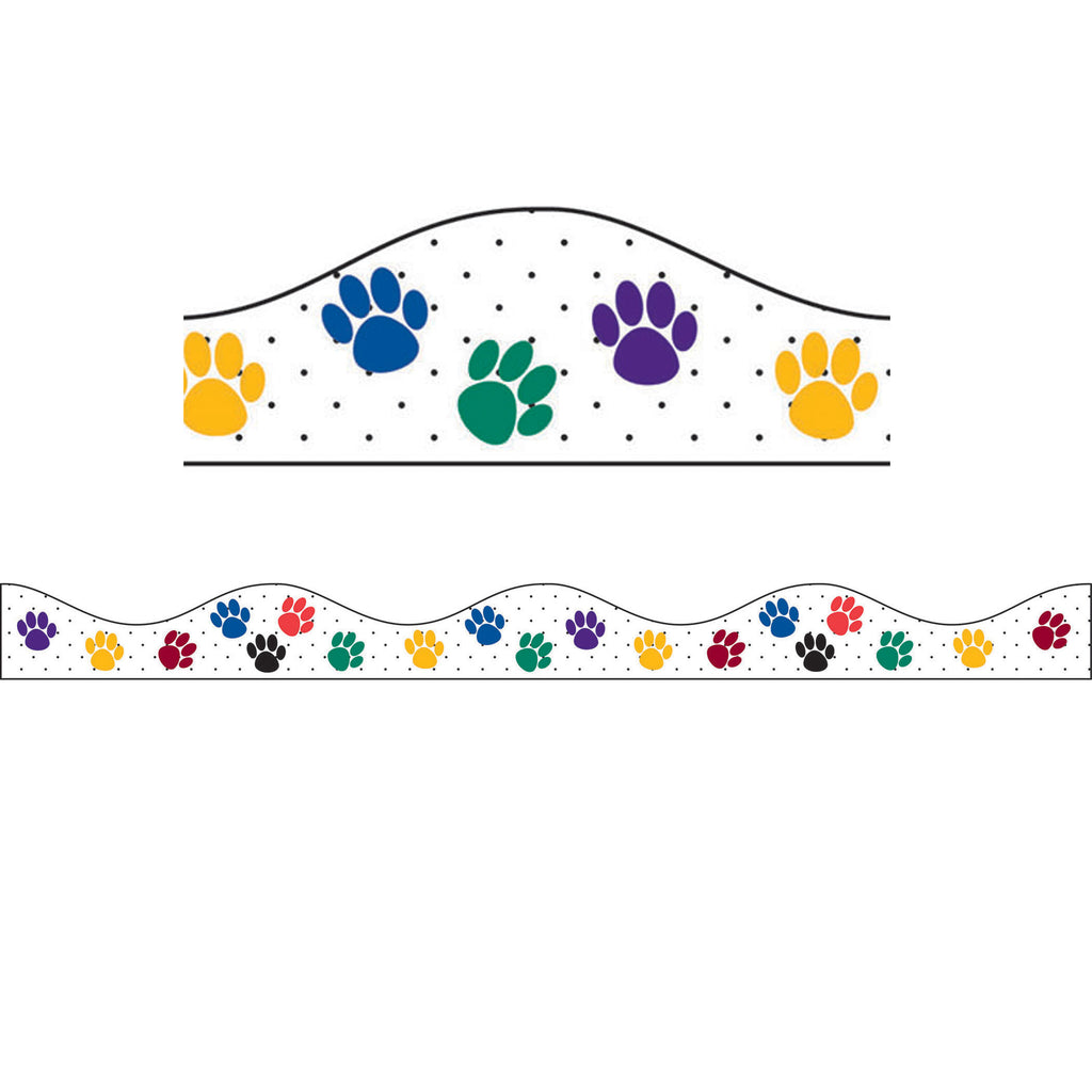 Ashley Productions Color Paw Prints Magnetic Border
