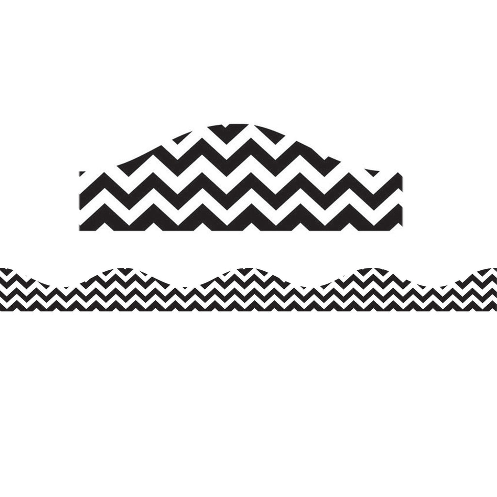 Ashley Productions Black Chevron Magnetic Border