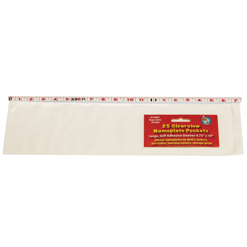 Ashley Productions Large Self-adhesive Name Plate Pocket/Sleeve