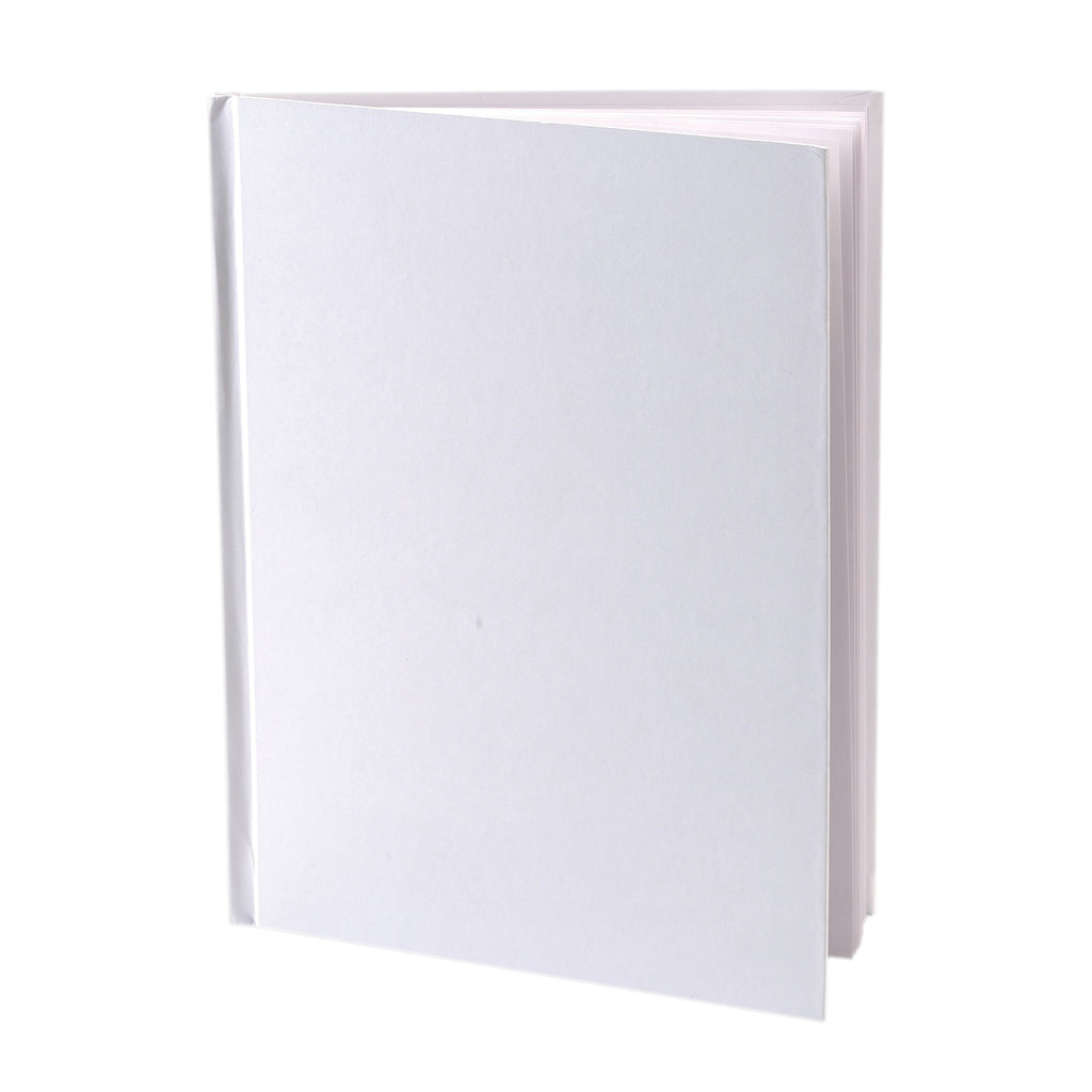 "Ashley Productions White Hardcover Blank Book, 6"" x 8"""
