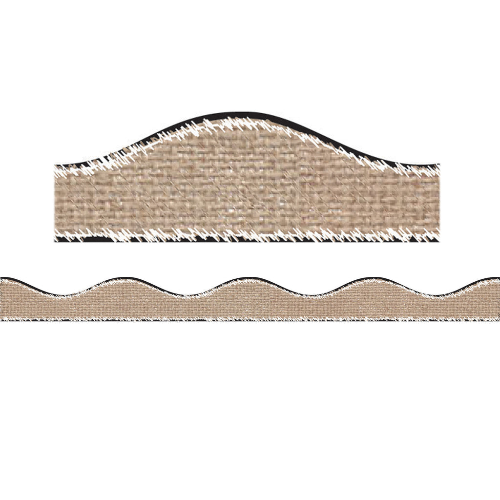 Ashley Productions Big Magnetic Burlap Scribble Border