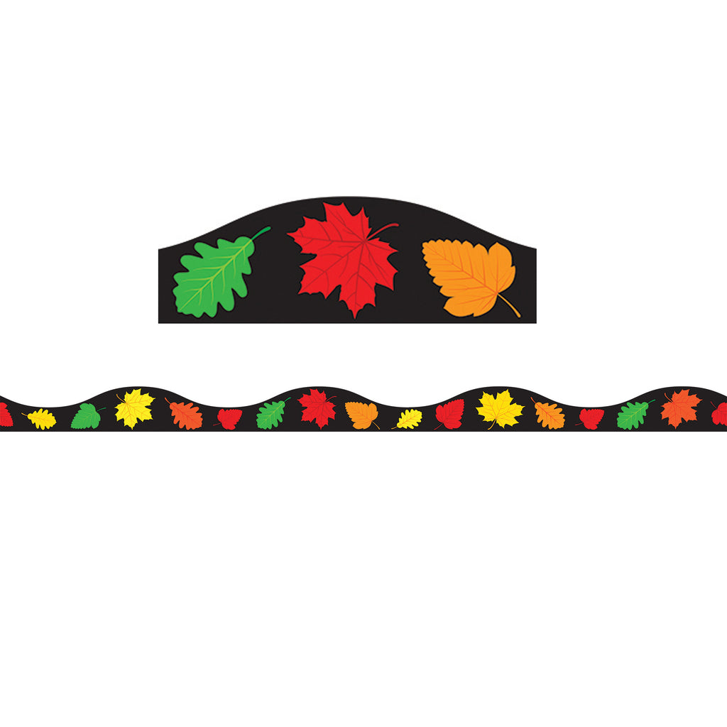 Ashley Productions Big Magnetic Fall Leaves Border