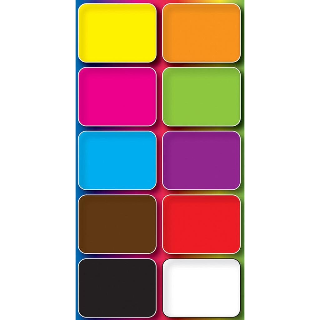 Ashley Productions Assorted Color Mini Whiteboard Erasers, 10 Pack
