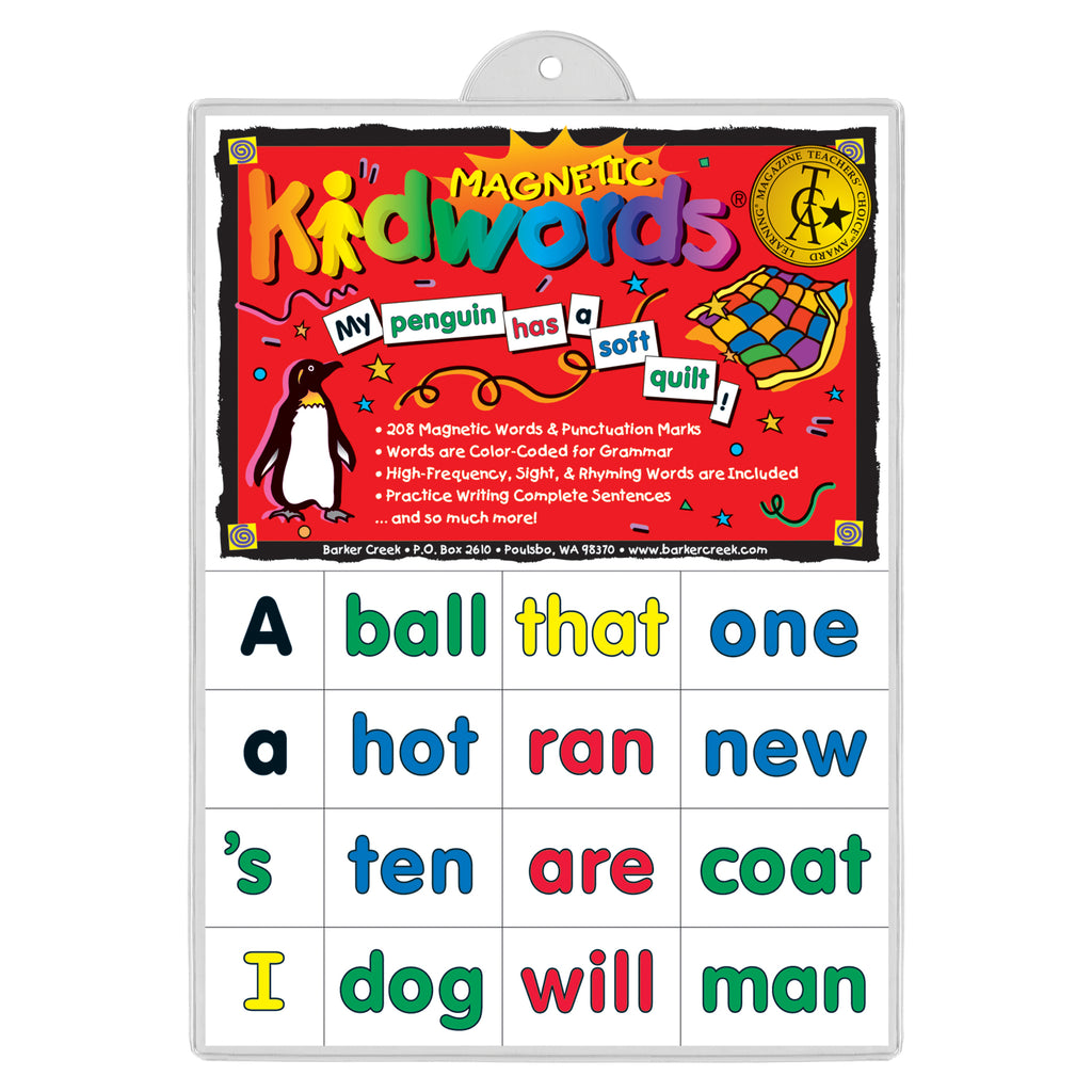Barker Creek High Frequency Magnetic Words (formerly KidWords®)