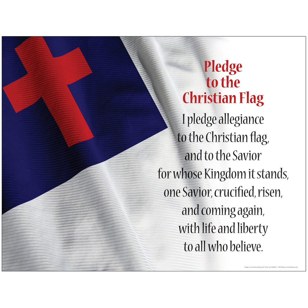 Barker Creek Pledge To The Christian Flag Chart