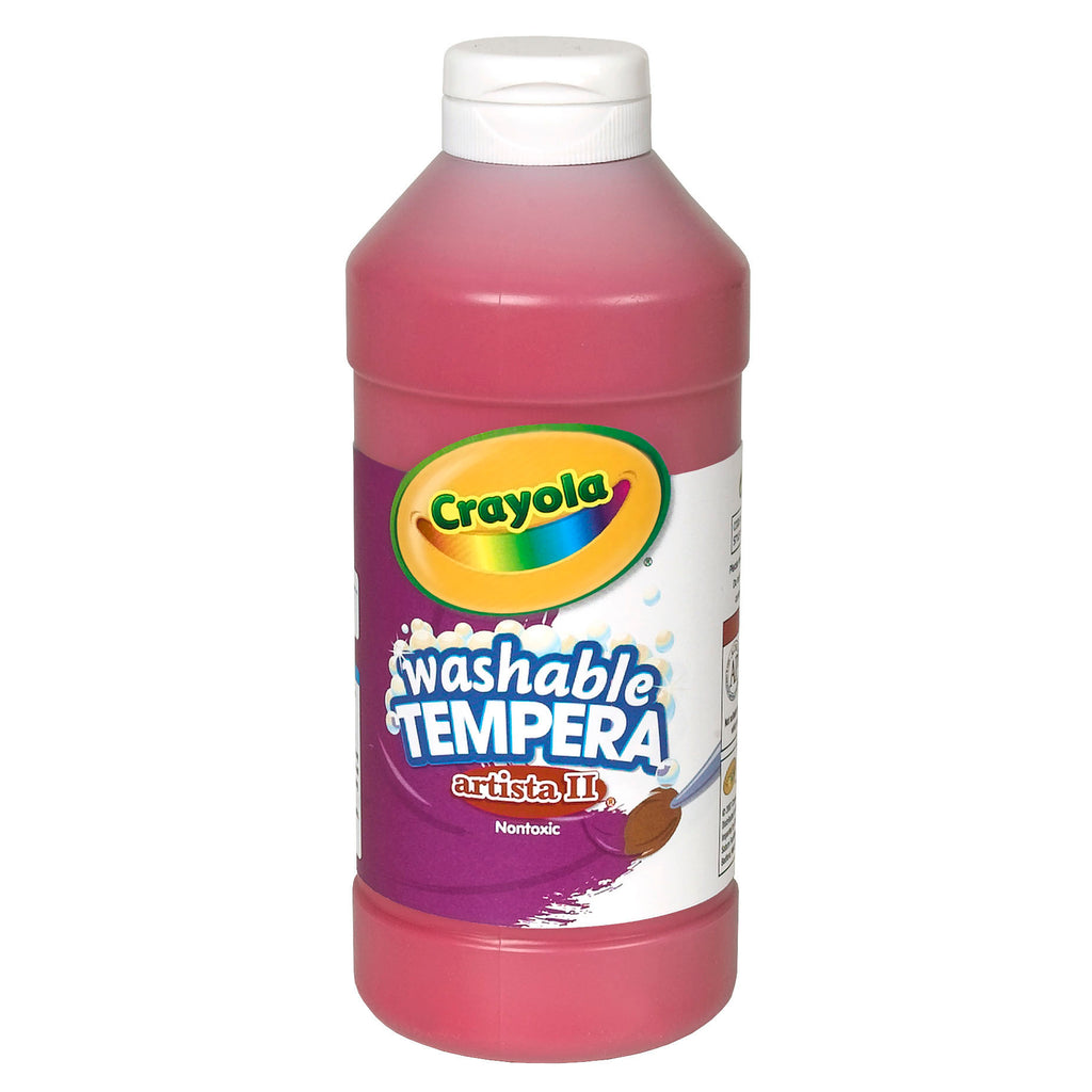 Crayola® Artista II Tempera 16 Oz Red Washable Paint