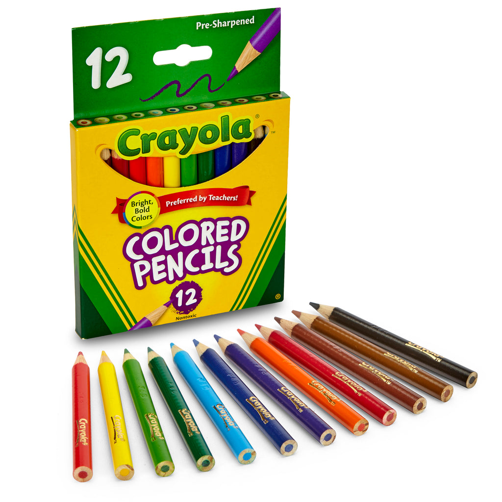 Crayola® Colored Pencils 12 Count Half Length