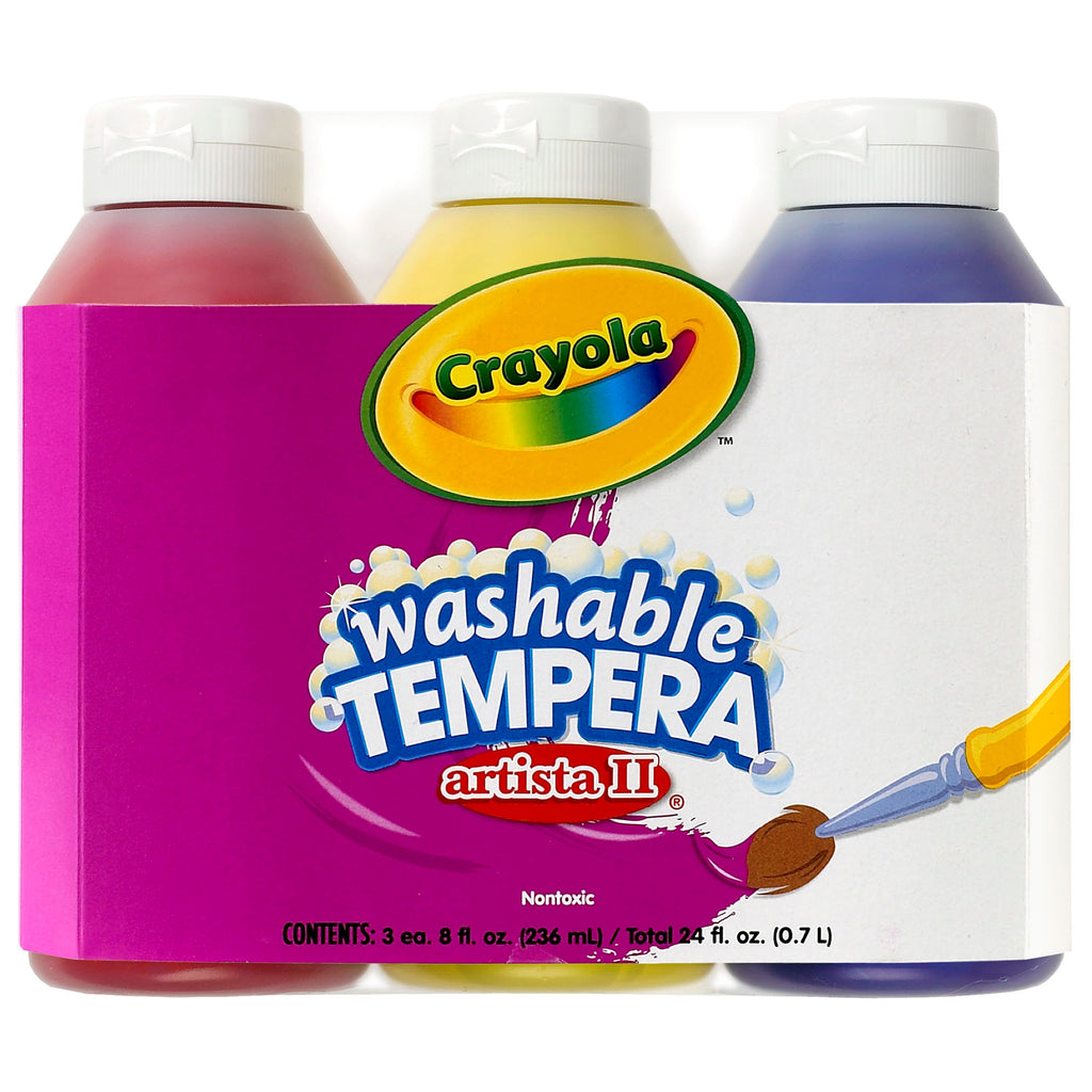 Crayola® Artista II Tempera 3 Count 8 Oz Primary Color Set Washable Paint