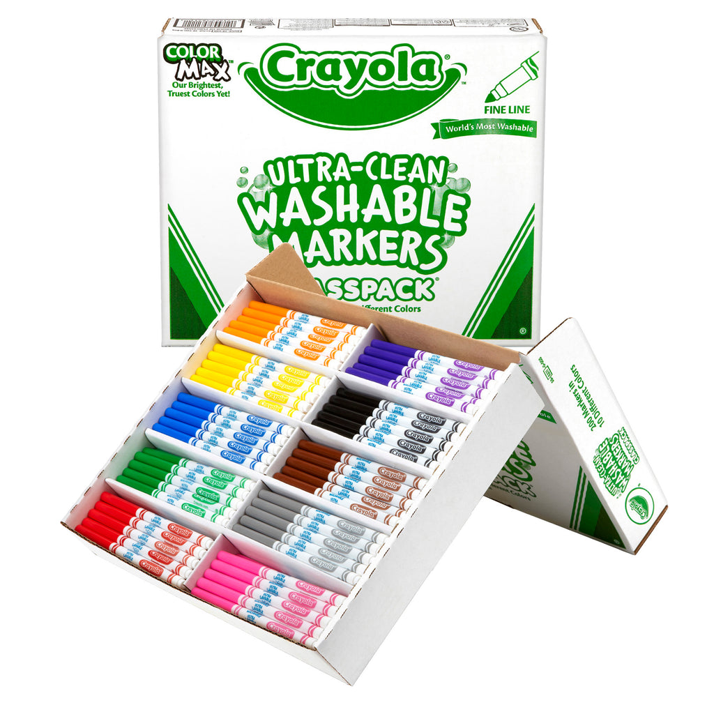 Crayola® Washable Classpack 10 Assorted Colors 200 Count Fine Tip
