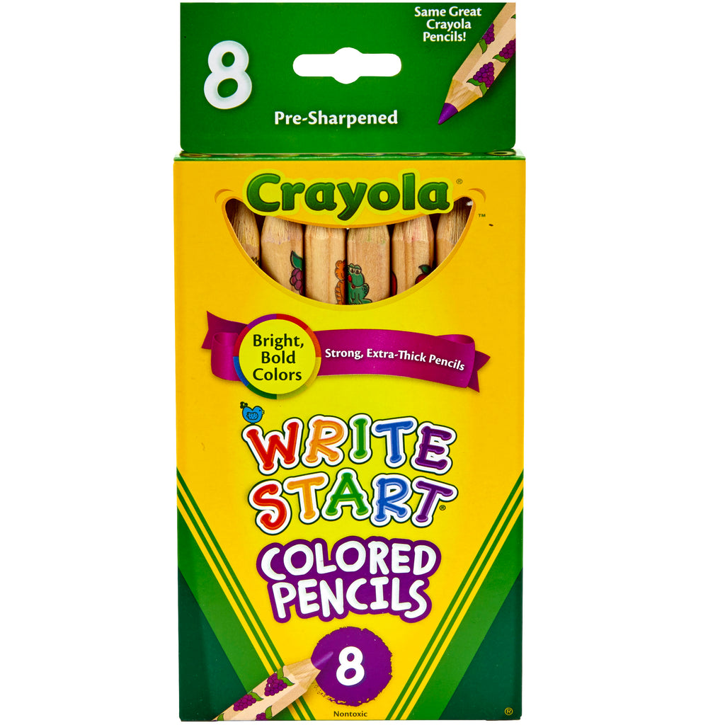 Crayola® Write Start 8 Count Colored Pencils