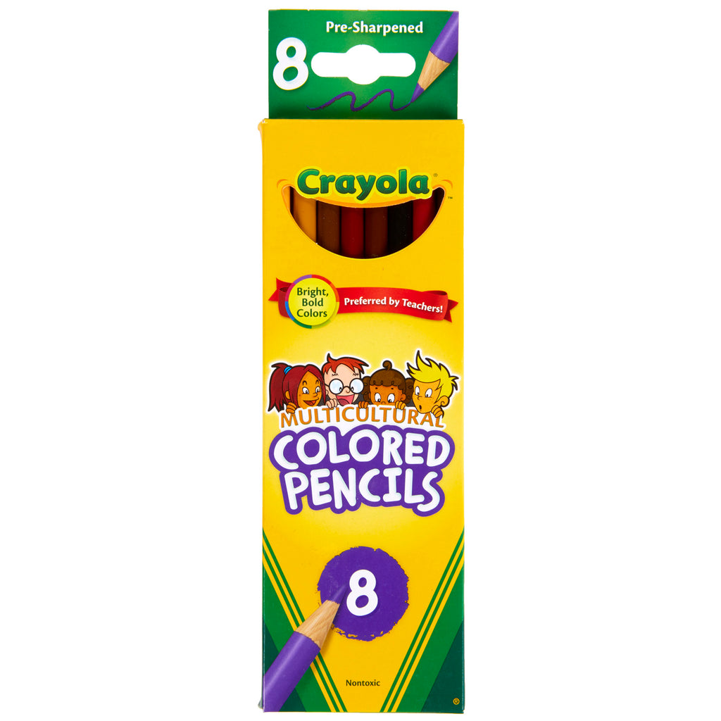 Crayola® Multicultural 8 Count Colored Pencils