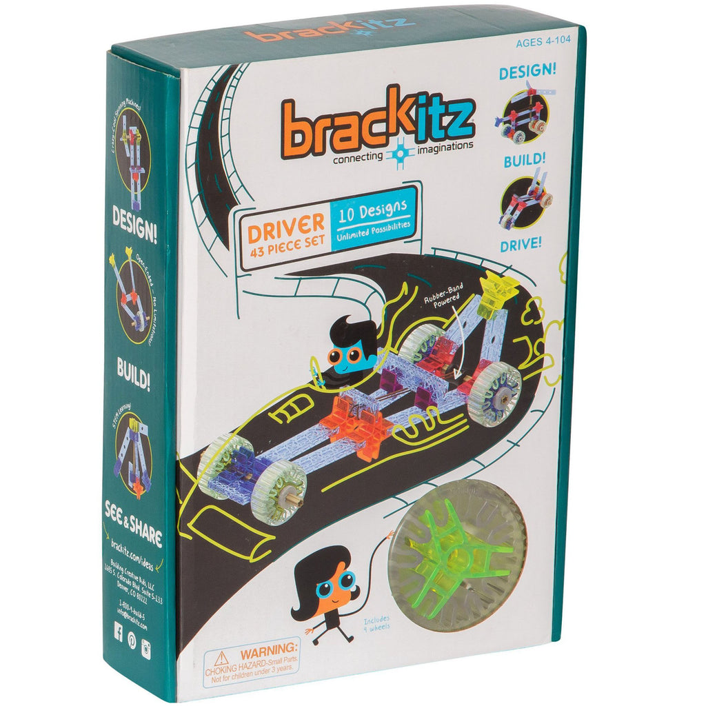 Building Creative Kids Brackitz Driver, 43 Piece Set