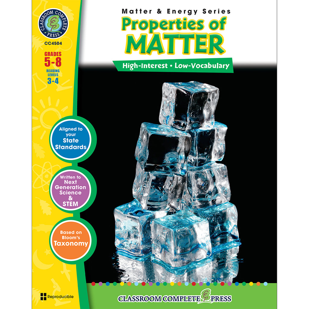 Classroom Complete Press Matter & Energy Series Properties Of Matter
