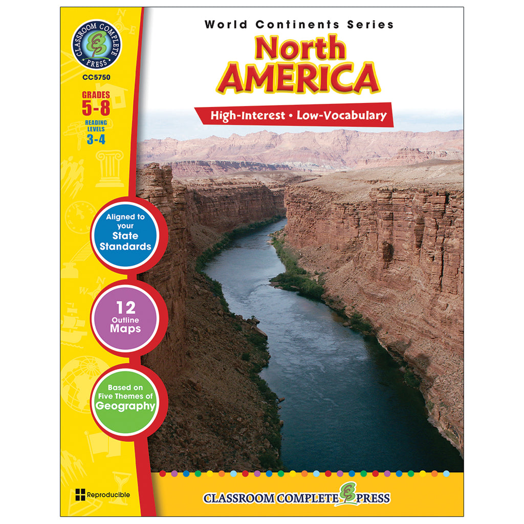 Classroom Complete Press World Continents Series North America