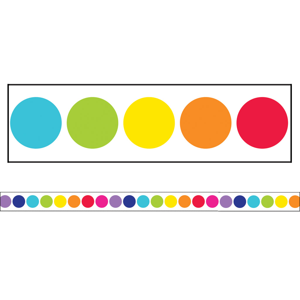 Carson Dellosa Twinkle Twinkle You're A STAR! Rainbow Big Dots Straight Bulletin Board Border