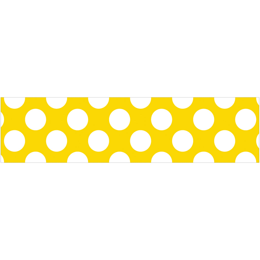 Carson Dellosa Yellow with Polka Dots Straight Bulletin Board Border