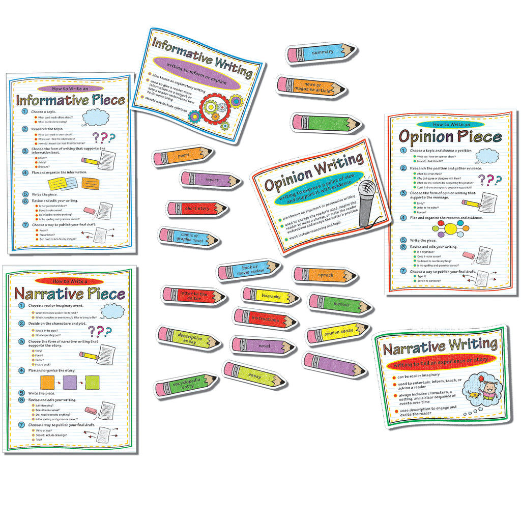Carson Dellosa Common Core Writing Modes Bulletin Board Set