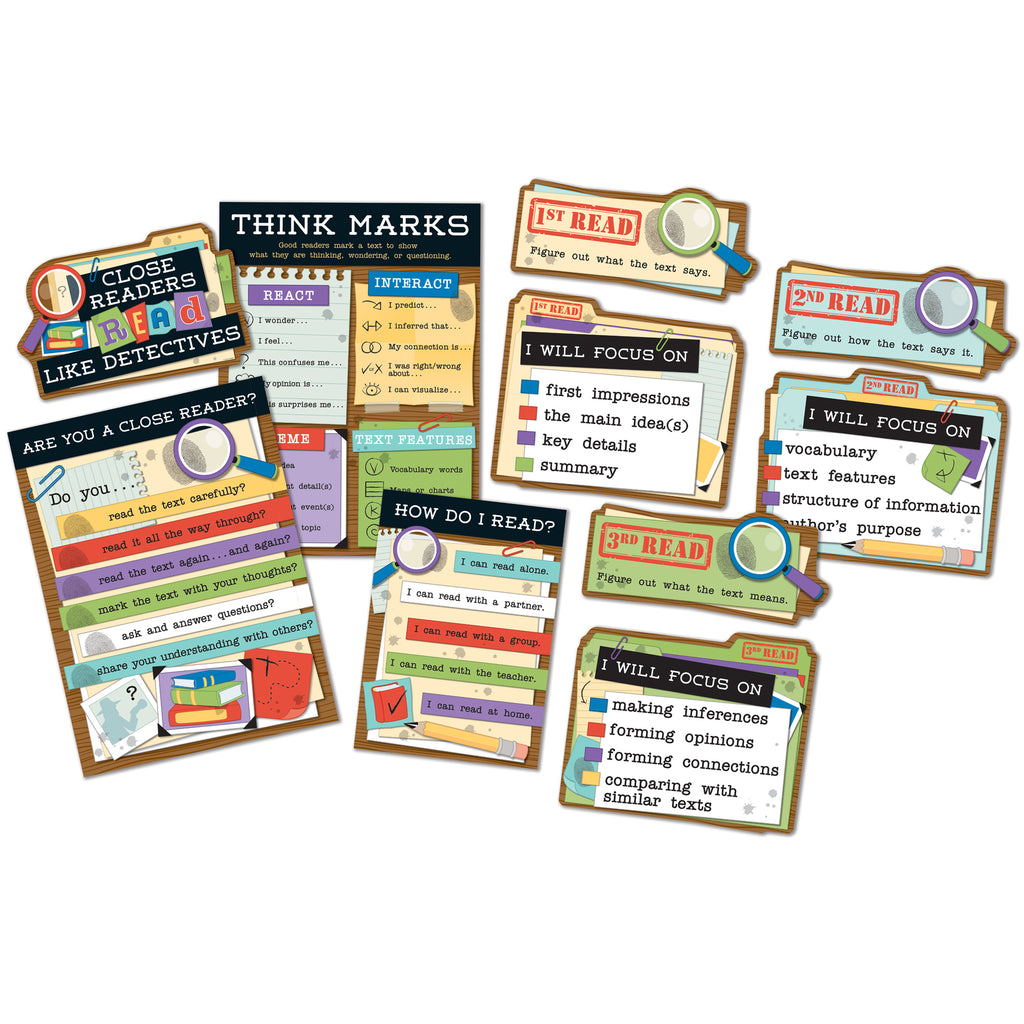 Carson Dellosa Close Reading Bulletin Board Set