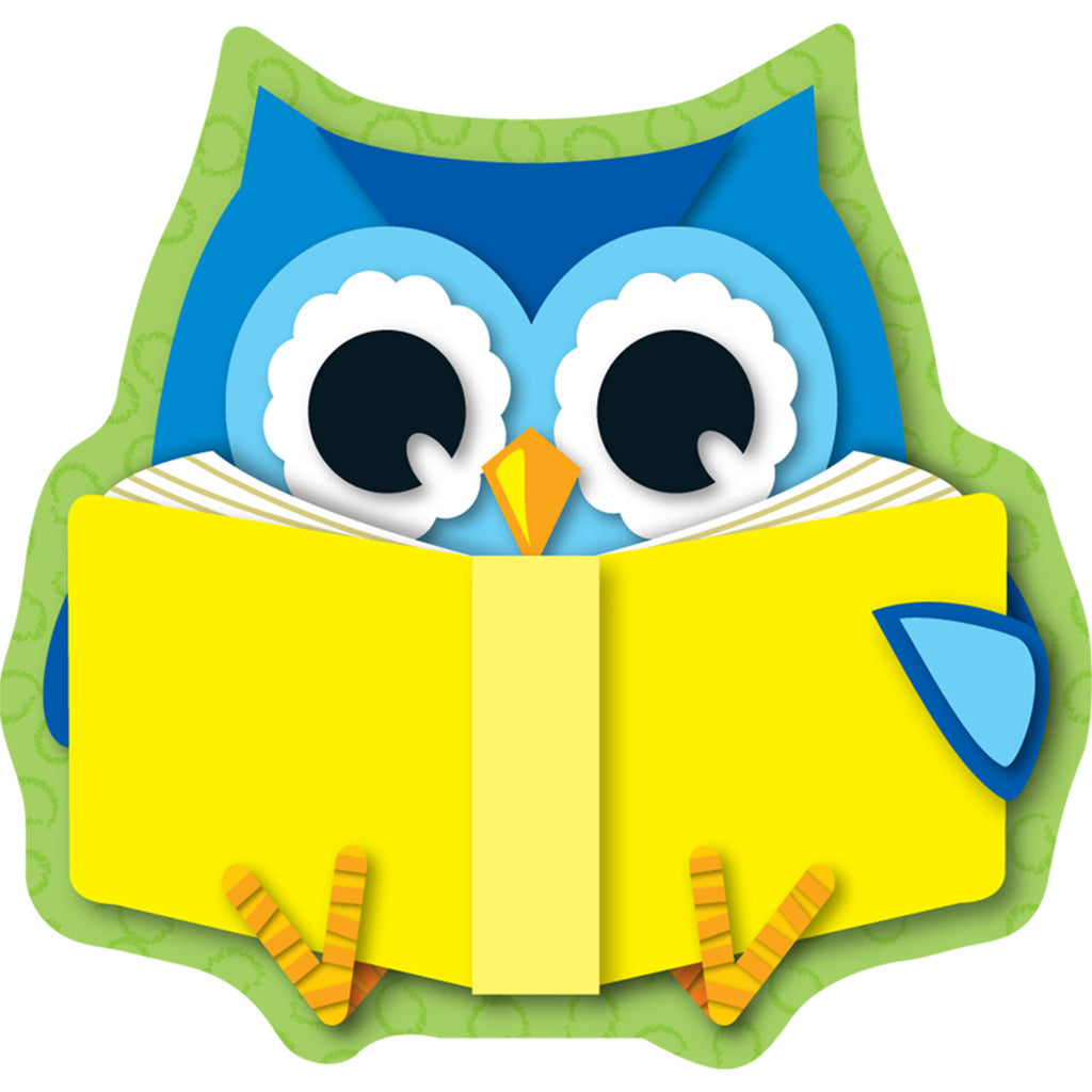 Carson Dellosa Colorful Owls Reading Mini Cut-Outs