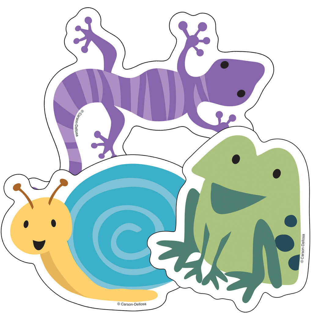 Carson Dellosa Nature Explorers Frogs, Lizards and Snails Colorful Cut-Outs®