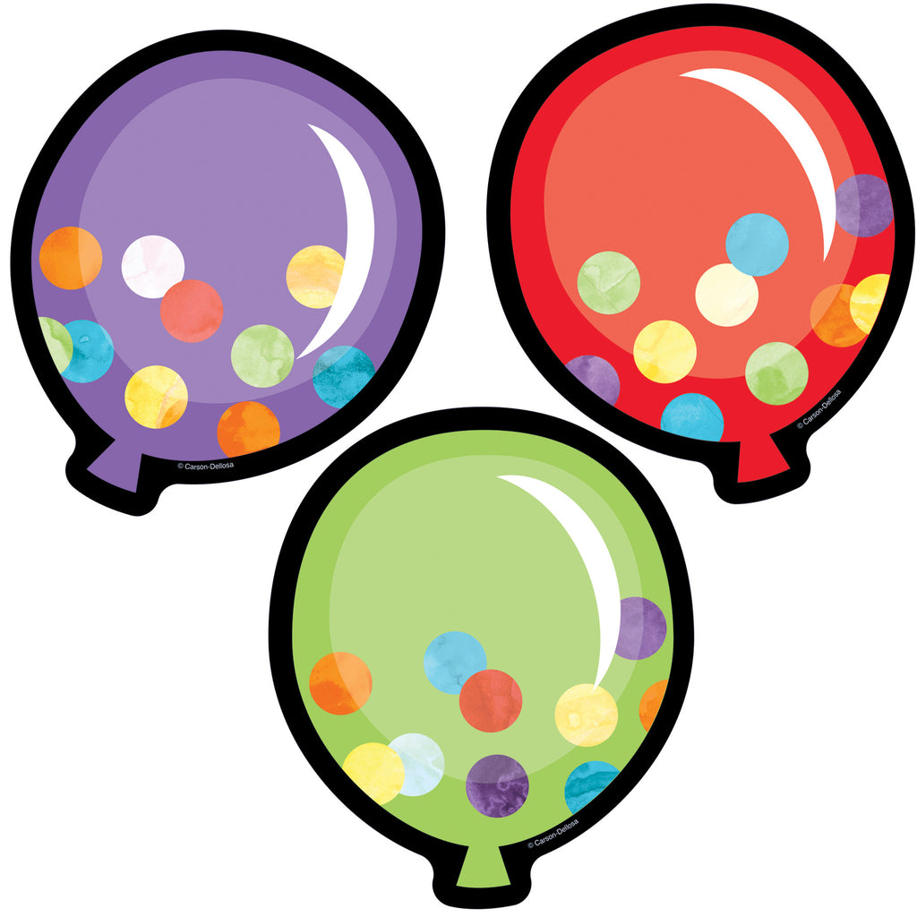 Carson Dellosa Celebrate Learning Balloons Colorful Cut-Outs®