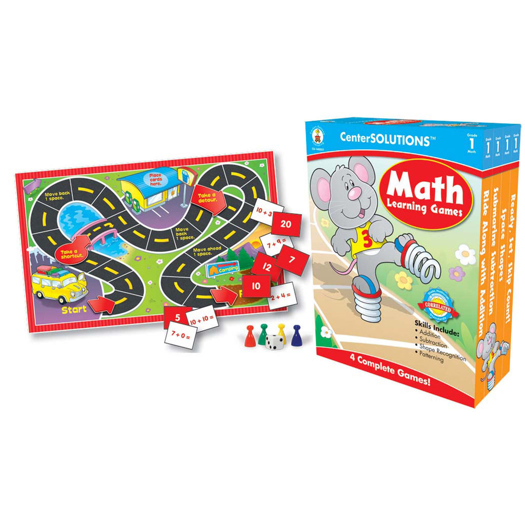Carson Dellosa CenterSOLUTIONS™ Math Learning Games, Gr 1