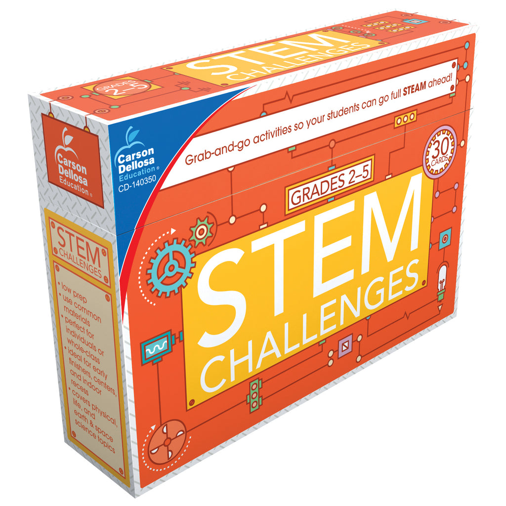 Carson Dellosa STEM Challenges Learning Cards, Grades 2-5