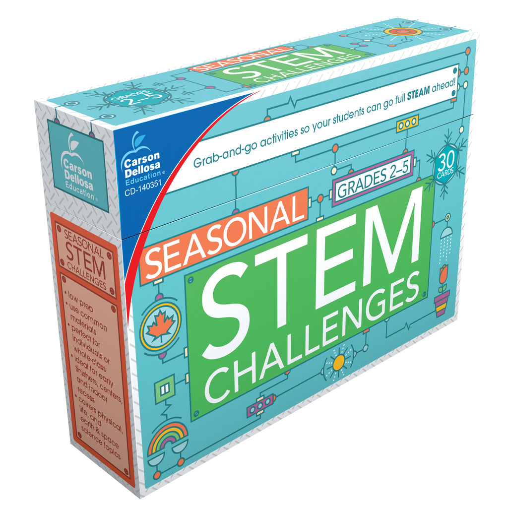 Carson Dellosa Seasonal STEM Challenges Learning Cards, Grades 2-5