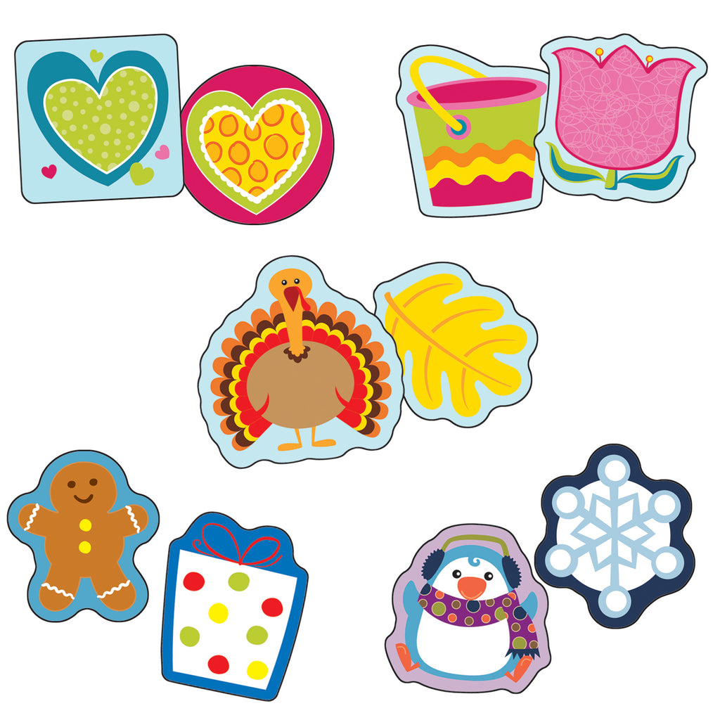 Carson Dellosa Seasonal Assorted Mini Cut-Outs Set