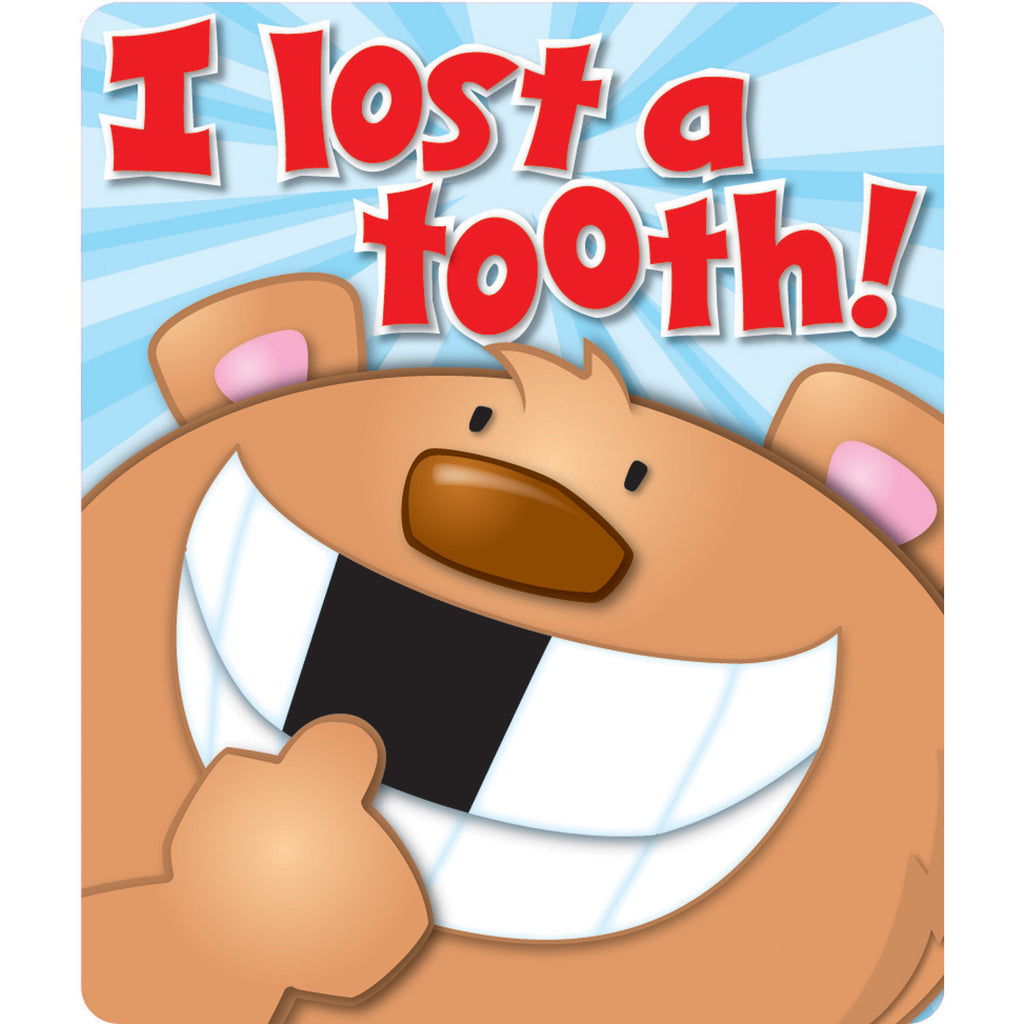 Carson Dellosa I Lost a Tooth Motivational Stickers