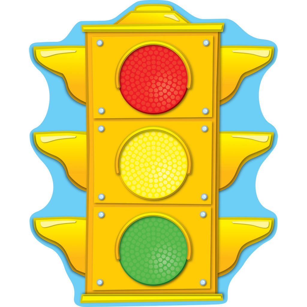 Carson Dellosa Stoplight Two-Sided Decorations
