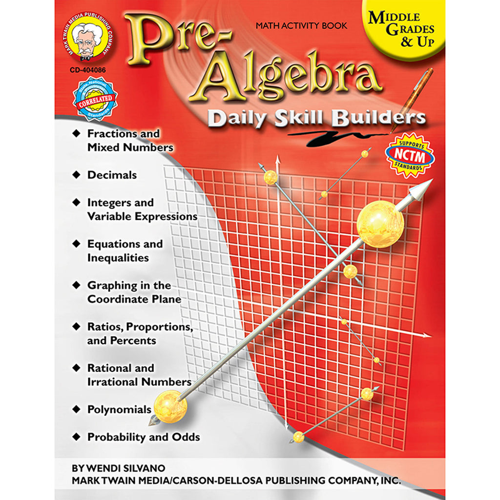 Carson Dellosa Pre-Algebra Resource Book, Gr 6+
