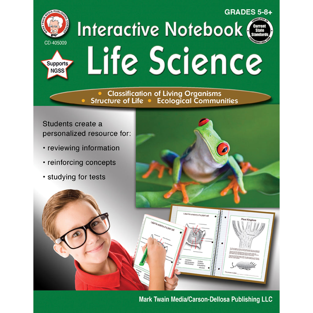 Carson Dellosa Interactive Notebook: Life Science Workbook, Grades 5-8