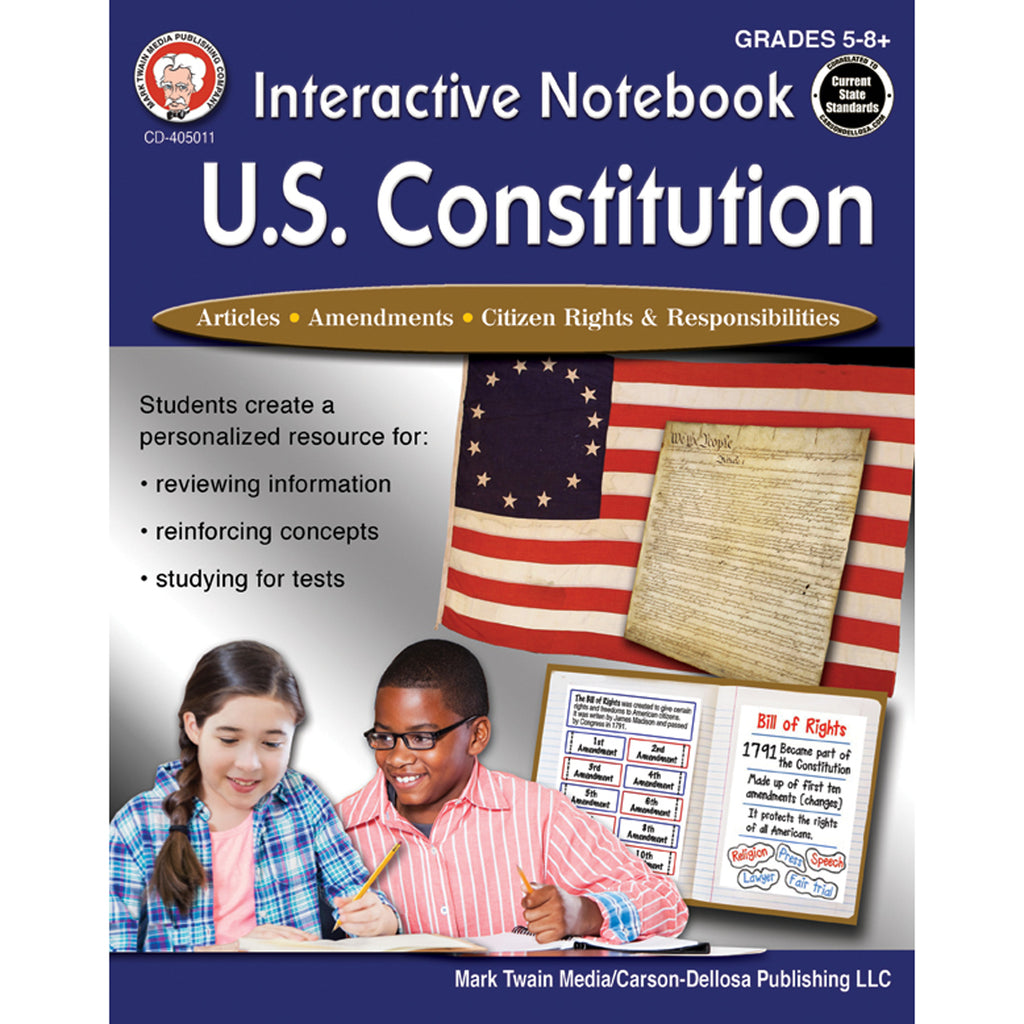 Carson Dellosa Interactive Notebook: U.S. Constitution Workbook, Grades 5-12