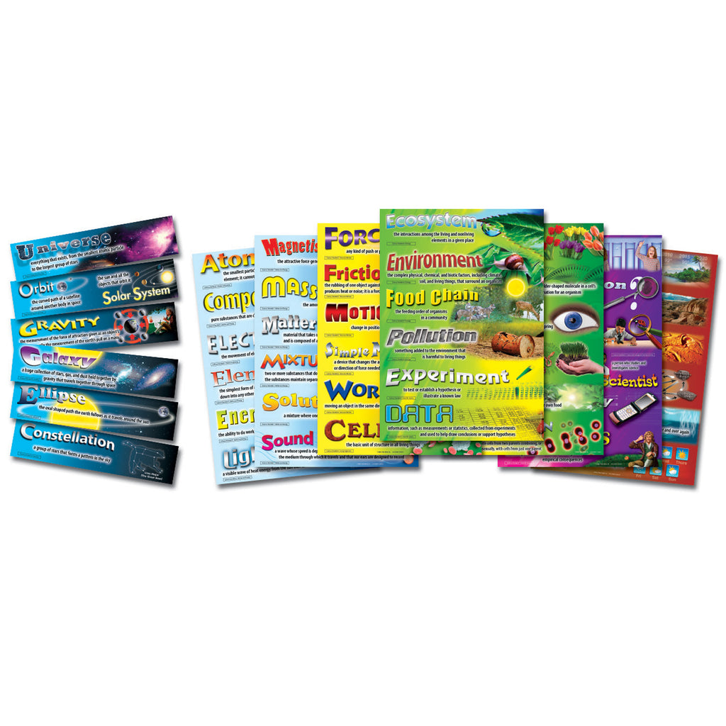 Carson Dellosa Science Vocabulary Bulletin Board Set