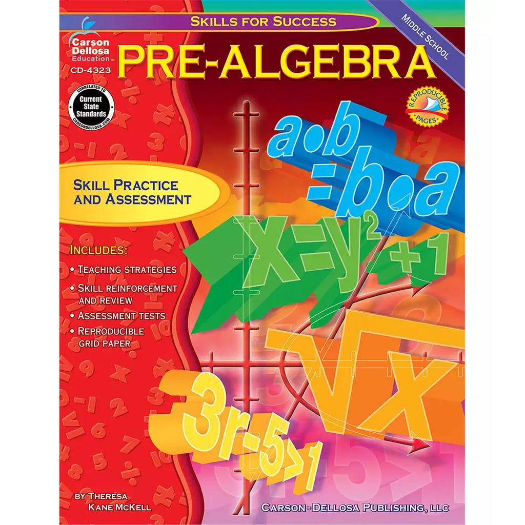 Carson Dellosa Pre-Algebra Resource Book, Gr 6-8
