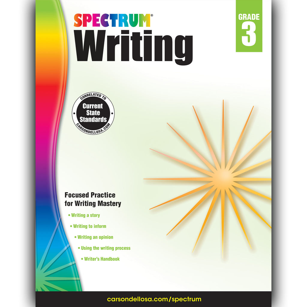 Carson Dellosa Spectrum Writing Workbook, Grade 3