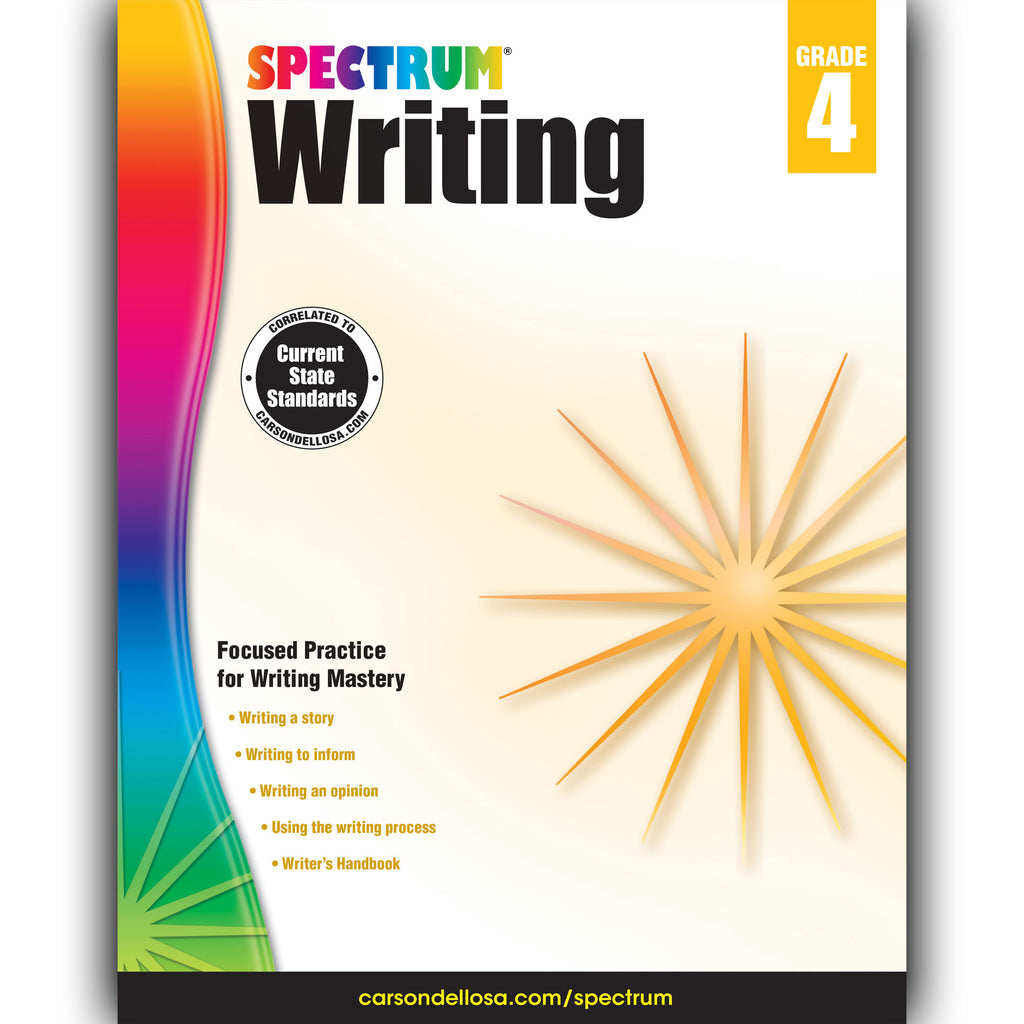 Carson Dellosa Spectrum Writing Workbook, Grade 4