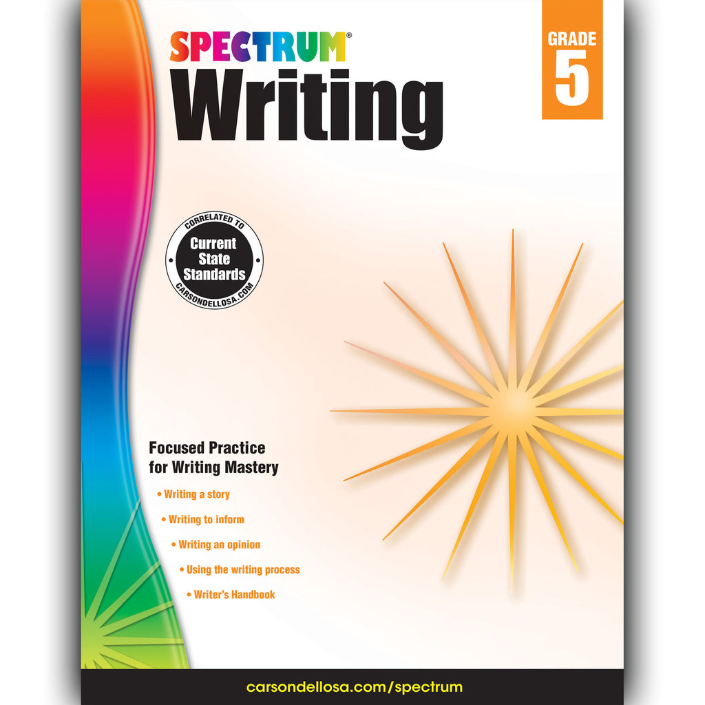 Carson Dellosa Spectrum Writing Workbook, Grade 5