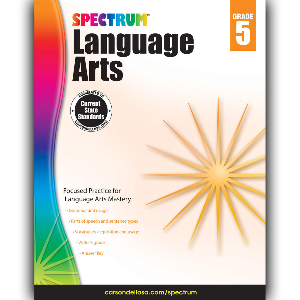 Carson Dellosa Spectrum Language Arts Workbook, Grade 5