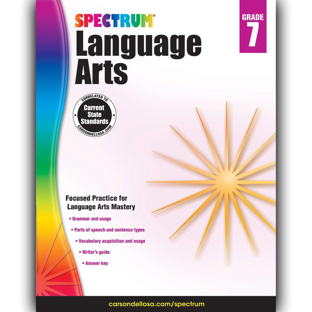 Carson Dellosa Spectrum Language Arts Workbook, Grade 7