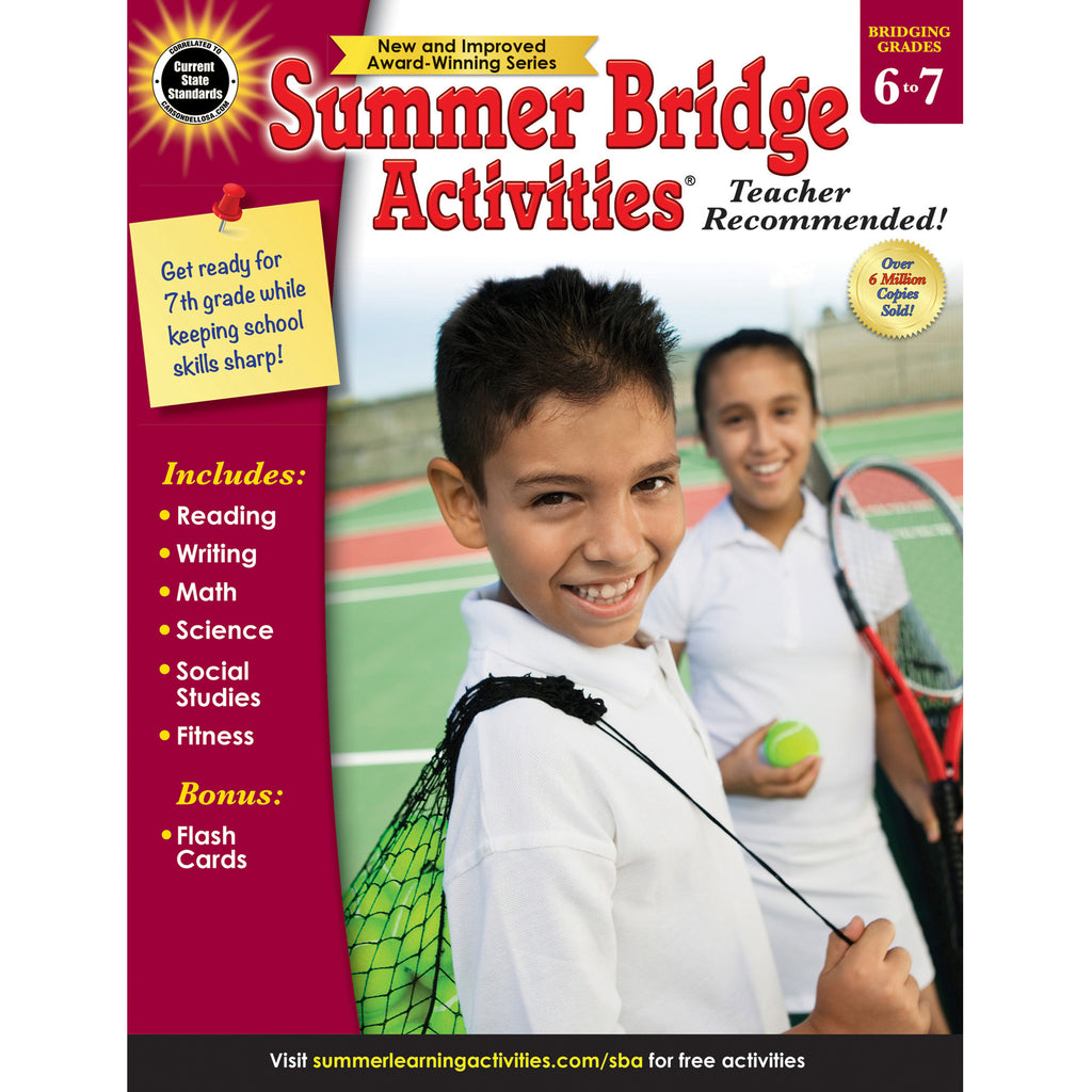 Carson Dellosa Summer Bridge Activities® Workbook, Grades 6-7