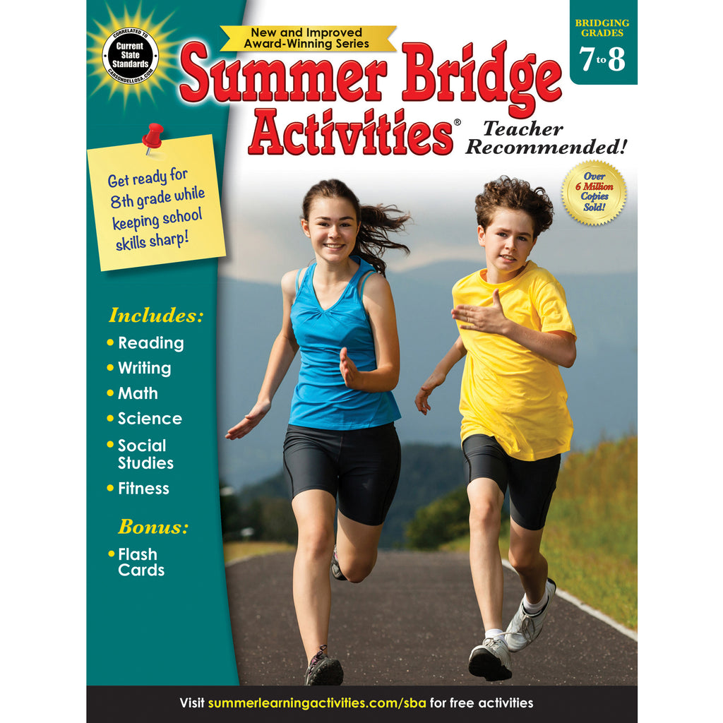 Carson Dellosa Summer Bridge Activities® Workbook, Grades 7-8