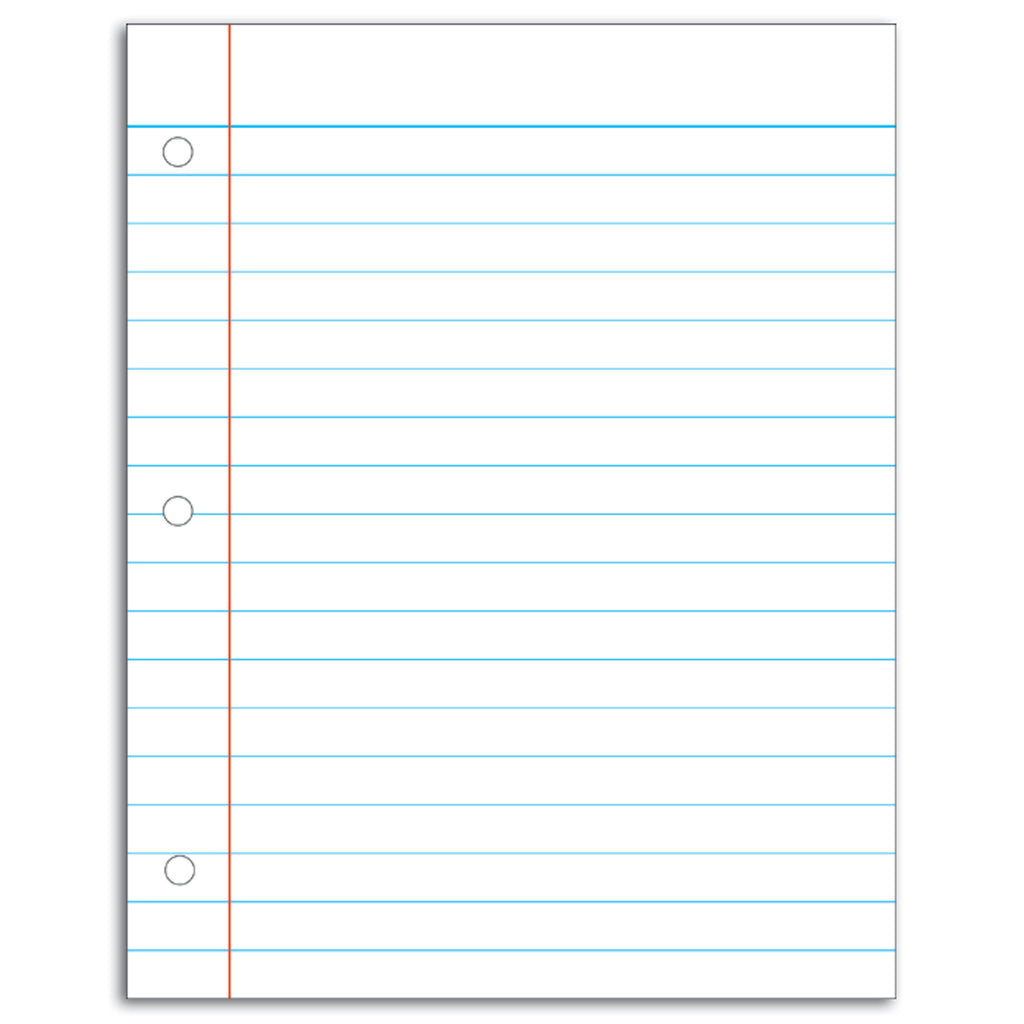 Carson Dellosa Notebook Paper Write On/Wipe Away Chart