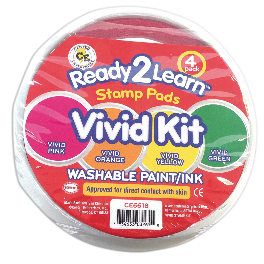 Center Enterprises Ready2Learn™ Washable Stamp Pads, Vivid Kit