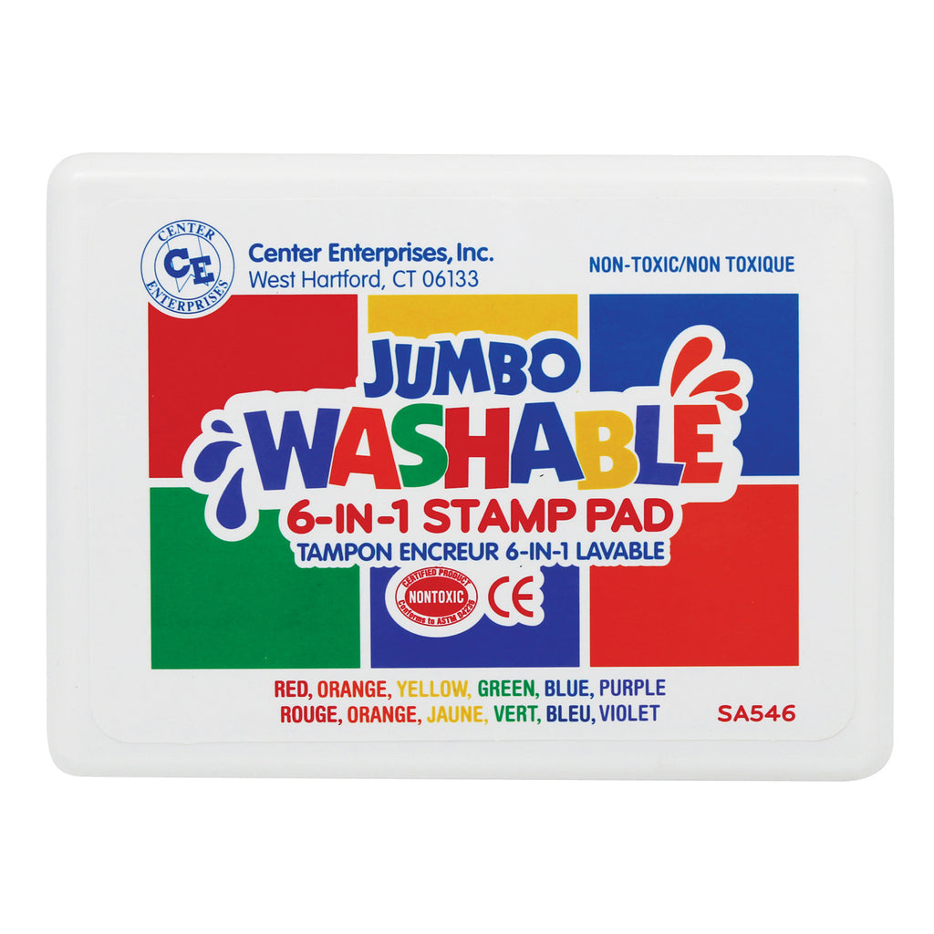 Center Enterprises Washable 6-In-1 Stamp Pad