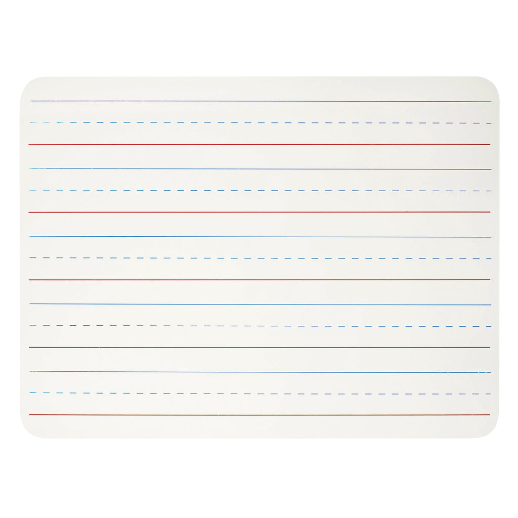 "Charles Leonard Dry Erase Board 9"" x 12"", Lined White Surface"
